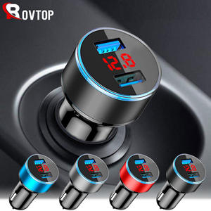 Rovtop Usb-Car-Charger Tablet Led-Display Universal Samsung S8 Xiaomi Dual 8-Plus iPhone X