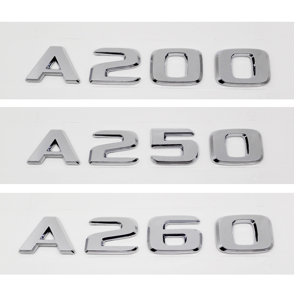 A160 Trunk Lid Rear Emblem Badge Chrome Letters for Mercedes W168 W169 A-Class