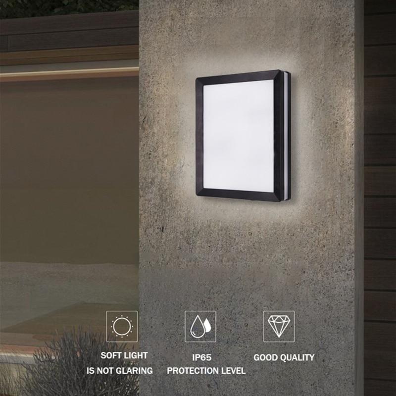 الشمال الجدار مصباح Ip65 Led البلاستيك في الهواء الطلق داخلي جديد تصميم الجدار أضواء الحديثة للمنزل الدرج غرفة نوم السرير الحمام الإضاءة