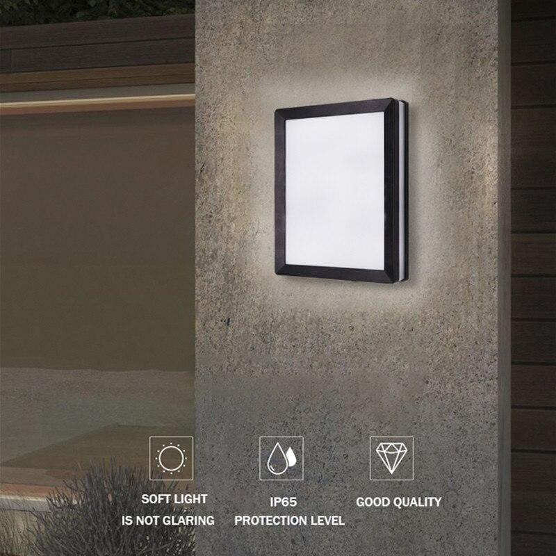 Nordic kinkiet Ip65 Led z tworzywa sztucznego na zewnątrz kryty nowy projekt kinkiety nowoczesne do domu schody sypialnia nocne oświetlenie łazienki