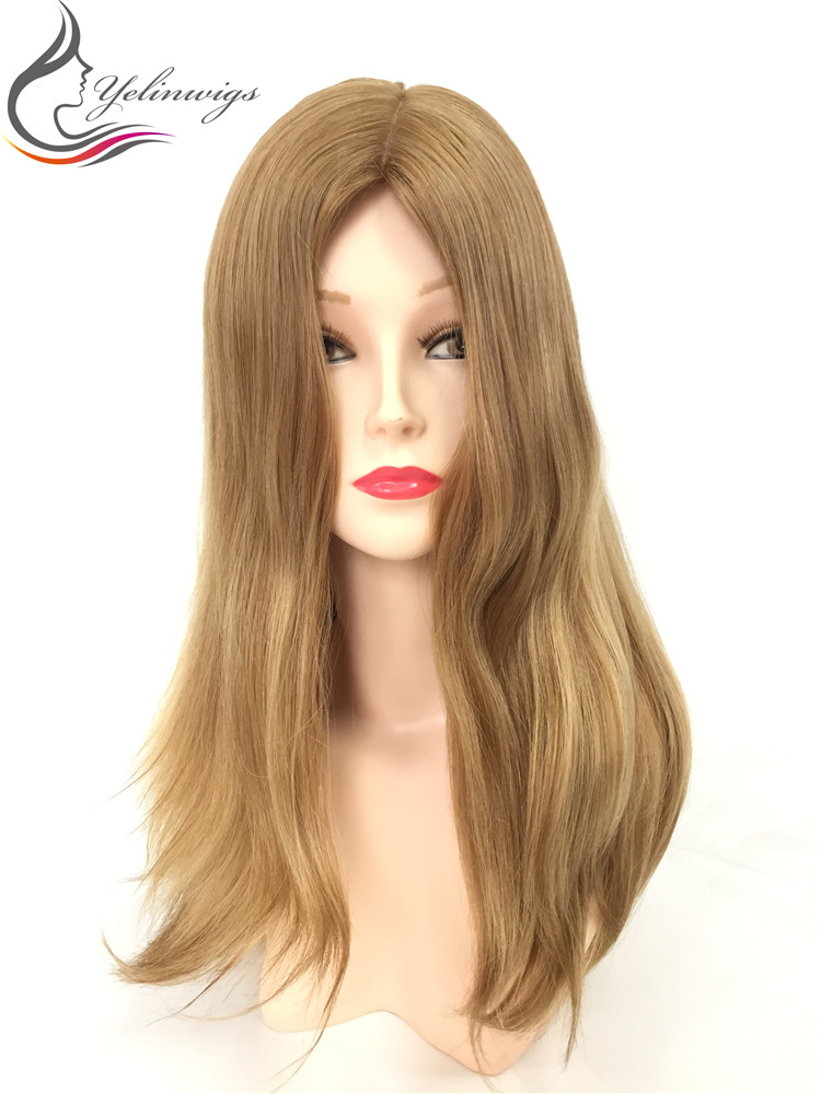 Stock Natural Wavy 14 Inch Large Layer 12/14 Beauty Blonde Color European Hair Wig With Body