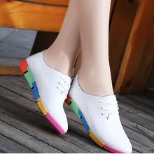 Kadın ayakkabısı düz ayakkabı sivri iş ayakkabısı rahat deri kadın ayakkabısı