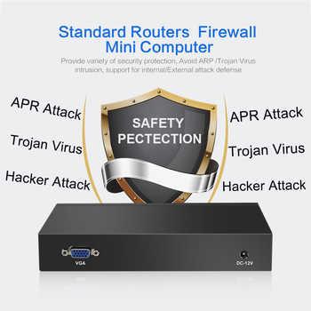 Fanless Mini PC Quad-Core Celeron J1900 J1800 4*Gigabit Ethernet LAN Router Firewall Mini Computer Windows Ubuntu 4-RJ45 HTPC