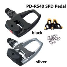 NEUE PD R540 Self Locking SPD Pedale Komponenten Mit für Fahrrad Racing Rennrad Teile Mit SH11 Stollen innen