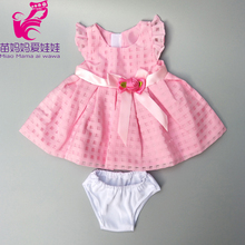 doll clothes for 17 inch 43cm baby new born Pink dress 18 girl dropshipping