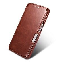 فاخر جلد طبيعي الحال بالنسبة لسامسونج غالاكسي S7 Fundas موضة كامل الشاشة مغطاة المغناطيسي حماية الوجه غطاء الهاتف حالات