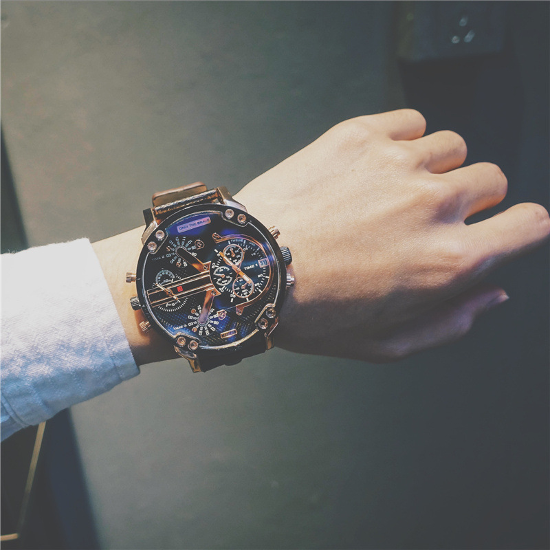 Popular Brand Watch Male STUDENT'S Europe And America Cool Hip Hop BOY'S Korean-style Fashion Men's High School Students Casual image