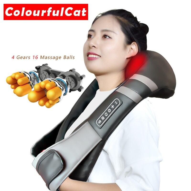 Novo Frete Grátis Pescoço Massageador Elétrico Massagem de Relaxamento Relaxante Saúde Masajeador Bolas Chinesas Para As Mãos Do Corpo Massageador