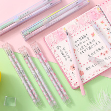 Creative student water pen cherry blossom 0.5mm gel couple signature small fresh on the 2 sticks
