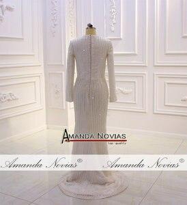 Image 4 - Nowy projektant suknia ślubna muzułmańska suknia ślubna 2020