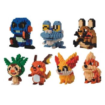 Cartoon Game poke XY&Z Micro diamond block Croagunk Froakie Dedenne Chespin Raichu Fennekin Growlithe nanobricks toys image