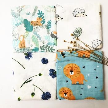 60*60cm Muslin Bamboo Cotton Baby Blanket Baby Newborn Blankets Newborn Swaddle Wrap Burp Cloths Towel Pielucha dropshipping