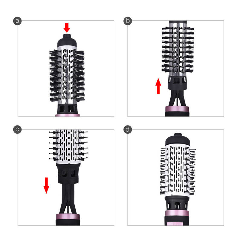 Image 5 - 2 In 1 Rotating Brush Hot Air Styler Comb Curling Iron Roll Styling Brush Hair Dryer Blow With Nozzles 2 Speed & 3 Heat Setting-in Hair Dryers from Home Appliances