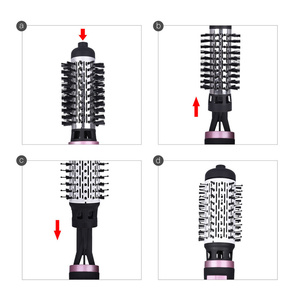 Image 5 - 2 In 1 Rotating Brush Hot Air Styler Comb Curling Iron Roll Styling Brush Hair Dryer Blow With Nozzles 2 Speed & 3 Heat Setting