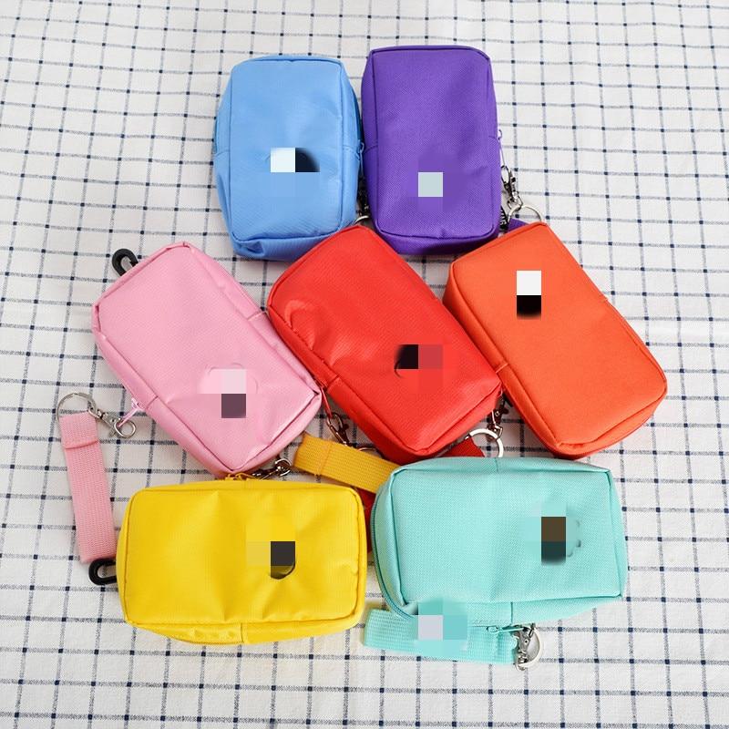 Cartoon Women Coin Purse Small Wallet Cute Headset Bag Kids Female Change Purse Mini Zipper Coin Key Earphone Bags Strap Pouch