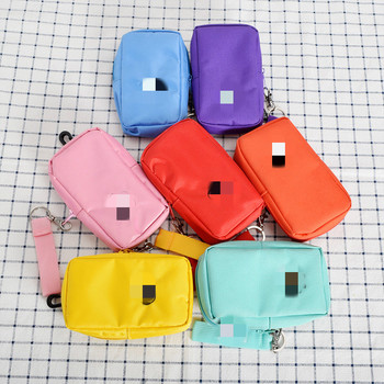 Cartoon Women Coin Purse Small Wallet Cute Headset Bag Kids Female Change Purse Mini Zipper Coin Key Earphone Bags Strap Pouch etya women coin purse cartoon cute headset bag small change purse wallet pouch bag for kids gift mini zipper coin storage bag