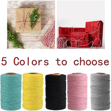 Twisted-Cord Macrame-Rope Colorful Cotton String-Thread Hand-Craft Wedding-Decoration