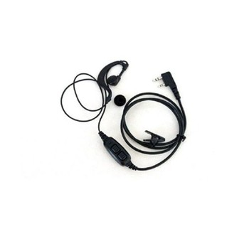 Baofeng Ear-Cup Hook Dual PTT Keys Earpiece for Baofeng UV-82 UV-5R 2 Way FM Radio