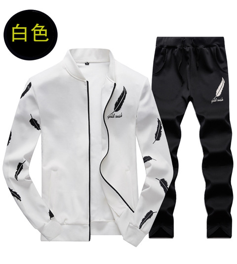 2019 Autumn New Style MEN'S Suit Men's Hoodie Long Sleeve Korean-style Trend Teenager Casual Running Sports Set