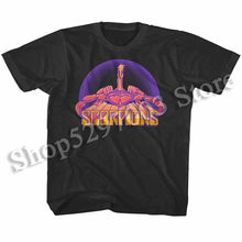 Scorpions Rock Band Logo Album Cover Art Kids T Shirt Dome Boys Girls Baby Youth Funny Design Tee Shirt(China)