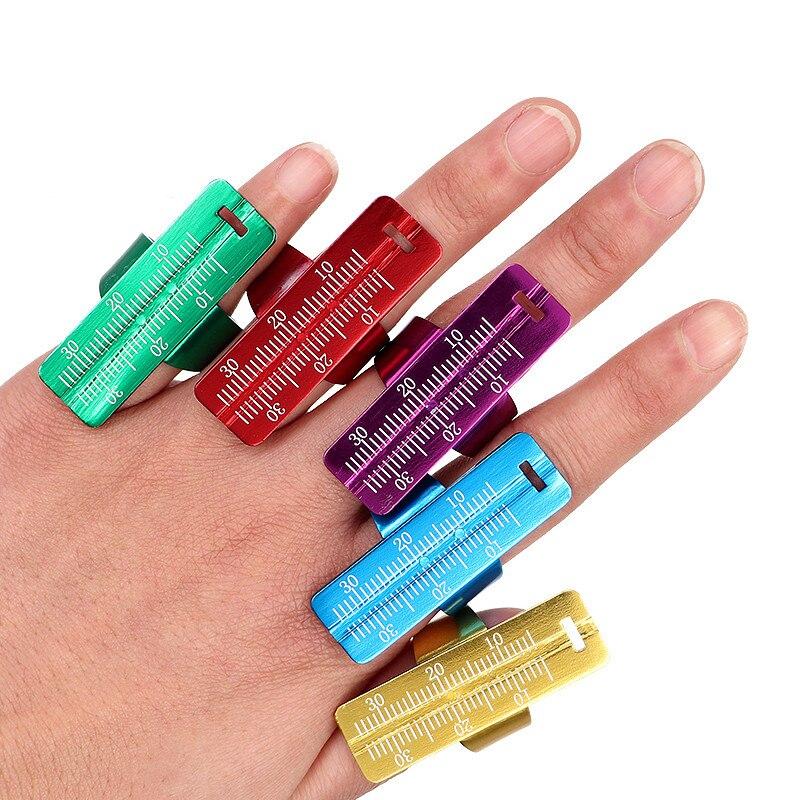 1PC Colorful Aluminium Dental Endo Finger Rulers Span Measure Scale Endodontic Dental Instruments Finger Ruler
