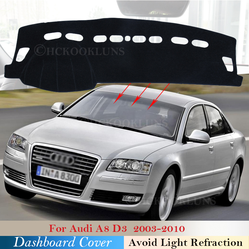 Dashboard Cover Protective Pad for <font><b>Audi</b></font> <font><b>A8</b></font> <font><b>D3</b></font> 2003~2010 <font><b>4E</b></font> Car Accessories Dash Board Sunshade Anti-UV Carpet S-line 2007 2008 image