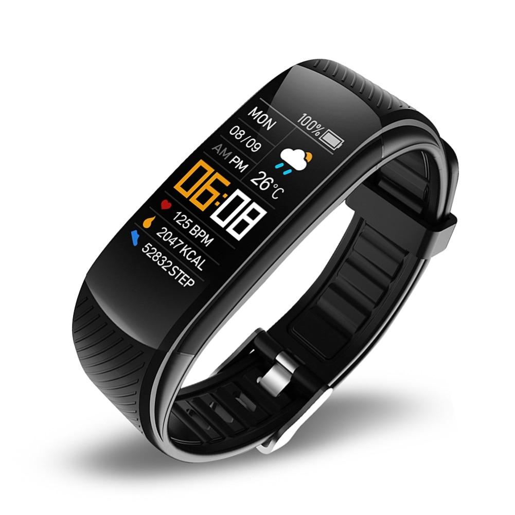 C5S Bluetooth Водонепроницаемый монитор сердечного ритма во время сна фитнес спортивные смарт-браслет многофункциональный сенсорный Экран смарт-браслет 2