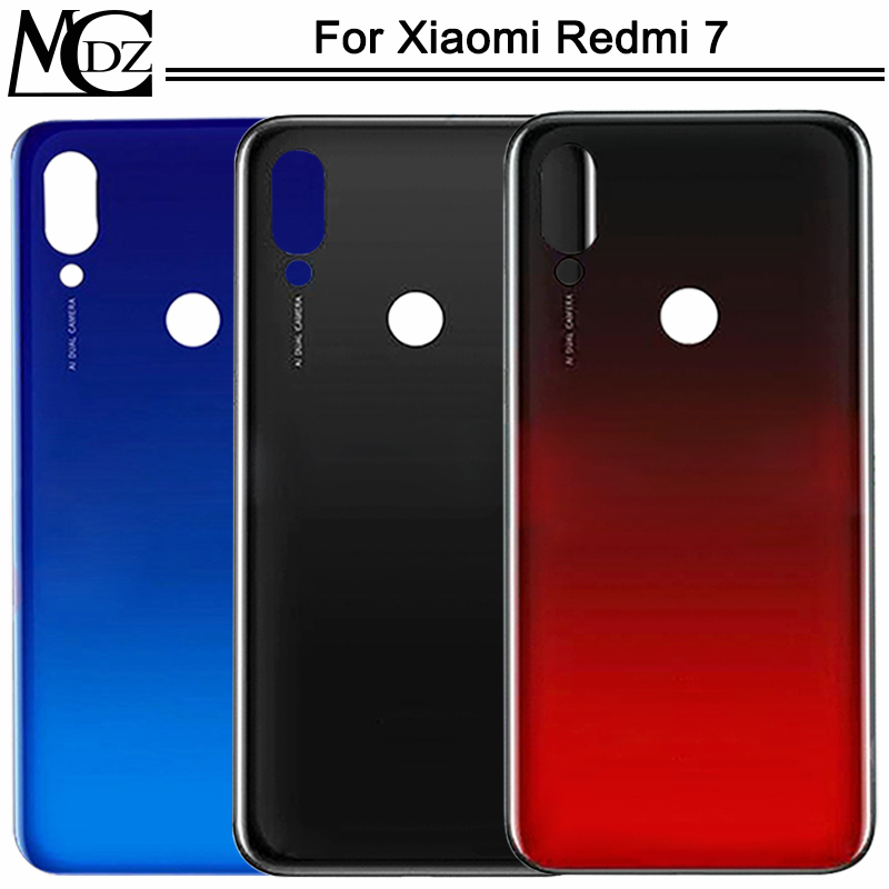 New Redmi 7 Battery Cover For Xiaomi Redmi 7 Case Back Lid Rear Door Housing Cover