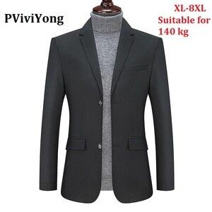 Бренд PViviYong, высококачественный деловой костюм для отдыха, мужские блейзеры, приталенный мужской костюм, топ, куртка, мужские большие размер...