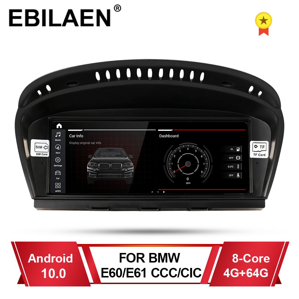 EBILAEN Android 10 Car DVD GPS Player for BMW 5 series E60 E61 E62 E63 3 series E90 E91 CCC/CIC Navigation AutoRadio Multimedia image
