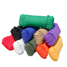 10M 4mm/10MM Colorful Braided Nylon Rope Lanyard Camping Handmade Clothesline Home Craft Decoration Cords
