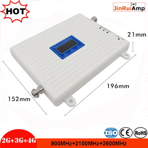 Image 2 - LCD 2g 3g 4g gsm repeater 900 2600 2100 MHz Tri band handy signal booster LTE cellular signal tri band repeater verstärker
