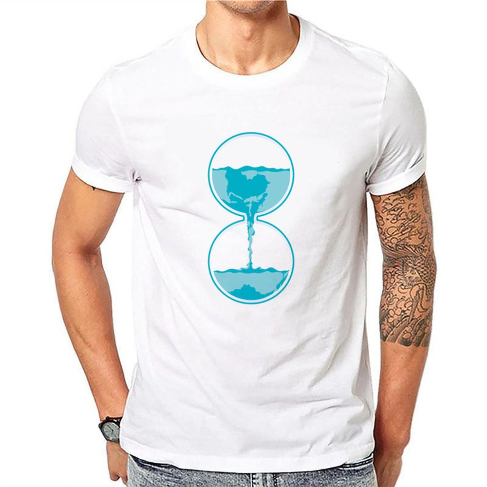 Luo Xin Flow Chronograph Men's Short Sleeve Pure White One Size Bottoming Shirt  Model 15.99