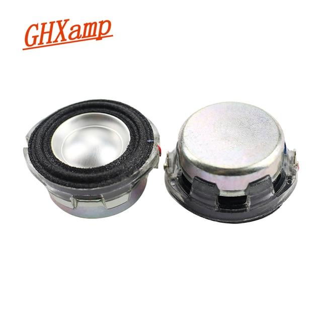 GHXAMP 1.5 אינץ מלא טווח רמקול קריסטל אגן מסגרת מתכת אגן neodymium מגנט אלומיניום חוט סליל קול 4ohm 2PCS