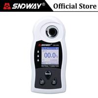 SNDWAY Digital Refractometer ATC Sugar Brix Meter Fruit Food Beverages Wine Alcohol Beer Sugar Content Densimeter Tester Tools