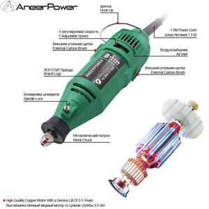 Image 3 - Dremel חריטת עט מטחנות 180W חרט מיני תרגיל מטחנה חשמלי רוטרי כלי מיני טחנת Diy תרגיל טחינה חשמלי מקדחות