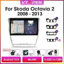 Vtopek 2din Android 10.0 Auto Radio Multimedia Video Player Gps Navigatie Voor Volkswagen Skoda Octavia 2 A5 2007-2014 hoofd Unit