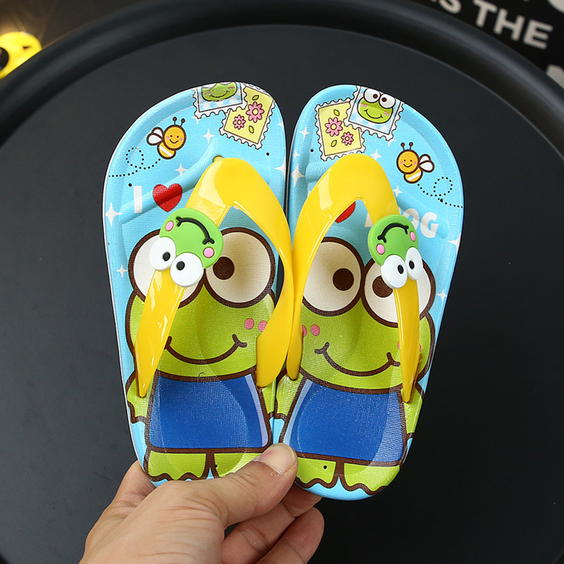 Children Summer Cartoon Cave Shoes Baby Girl Cartoon Toddler Boy Indoor Home Slippers Kids Beach Water Flip Flops Garden Sandals