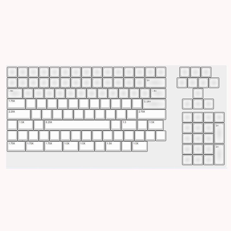Image 4 - IDOBAO 129 Key Light Gray DSA Keycaps For Mechanical Keyboard PBT  Russian Gk61 Art Electronics Motospeed Ck104 Clavier GamerKeyboards