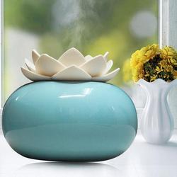 200ML ceramiczny ultradźwiękowy nawilżacz zapachowy dyfuzor powietrza prostota kształt lotosu oczyszczacz Atomizer OLEJEK ETERYCZNY dyfuzor na
