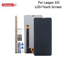 """Leagoo S11 LCD 디스플레이 및 터치 스크린 용 Alesser Leagoo S11 전화 용 도구 및 접착제가있는 6.21 """"어셈블리 수리 부품"""