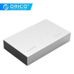 Orico Case HDD TYPE C Aluminium SATA Ke USB C 3.5 Inch SSD/SATA HDD Kandang Penyimpanan USB3.1 SATA 3 dengan 12V Power Adaptor