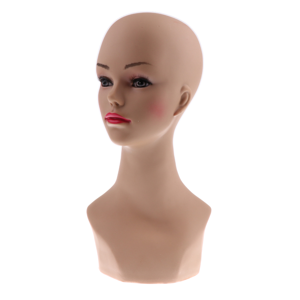 Plastic Female Mannequin Head Display Stand Wigs Making Hats Glasses Holder