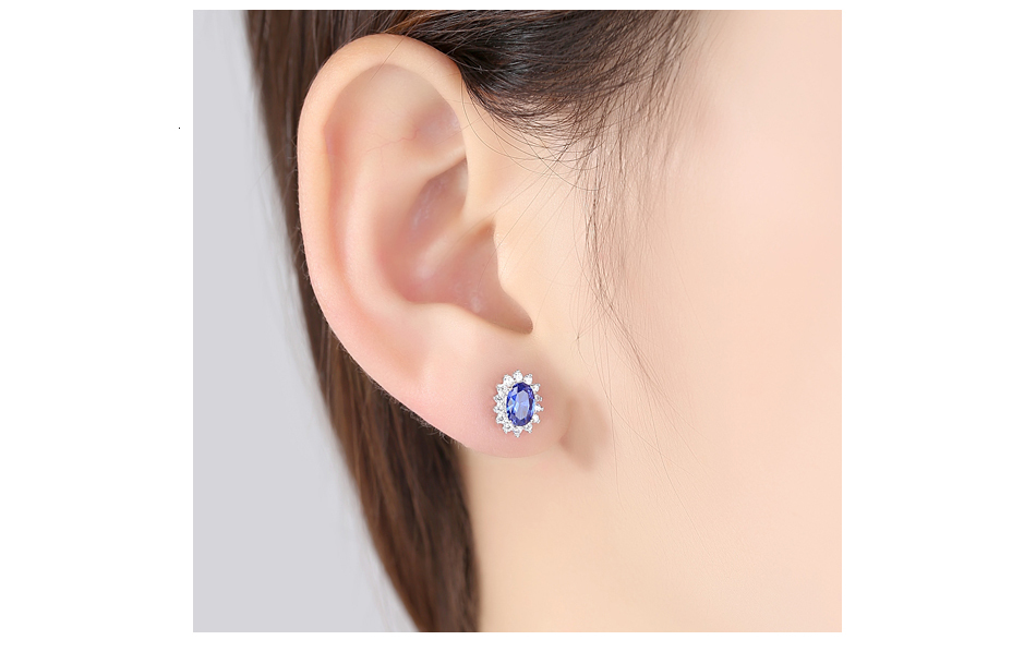 Hca081cb62d3340fab01851ea64e9865dS CZCITY New Natural Birthstone Royal Blue Oval Topaz Stud Earrings With Solid 925 Sterling Silver Fine Jewelry For Women Brincos