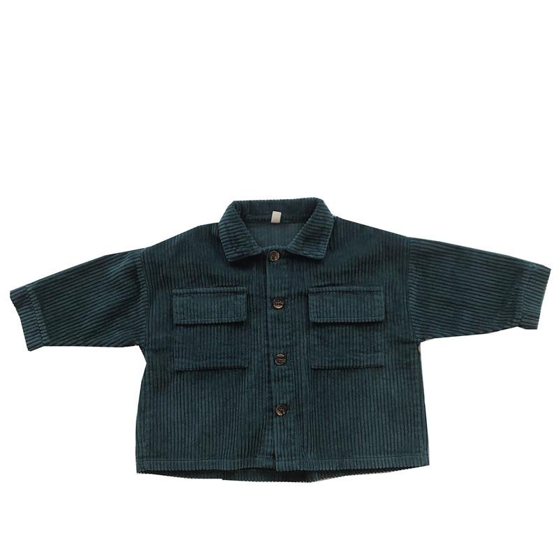 Kids Tops Coat Long Sleeve 2021 New Autumn Simplicty Corduroy Girls Coat Baby Jacket Boys Jackets Toddler Girl Winter Clothes 2
