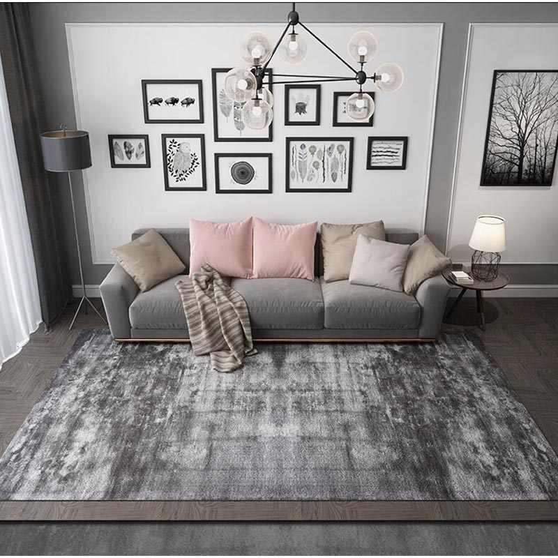 Solid Grey Large Carpets Living Room