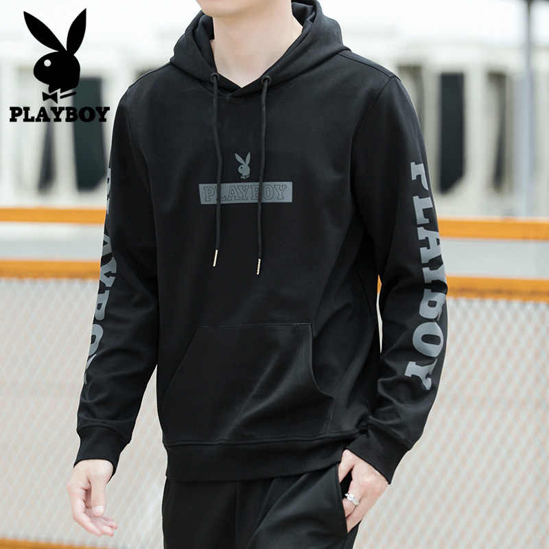 Playboy Nieuwe High Street Casual Print Losse Truien Mannen Fall Fashion Streetwear Hooded Heren Sweatshirt PB6059