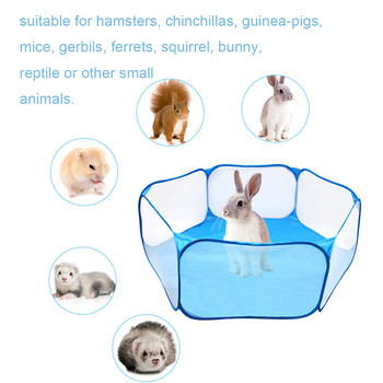Pet Playpen Portable Pop Open Indoor / Outdoor Small Animal Cage Game Playground Fence for Hamster Chinchillas Guinea Pigs 2