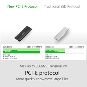 Image 4 - EZCAST NVME M.2 case M.2 to rodzaj USB C 3.1 Adapter SSD dla NVME SATA M klucz M/B klucz Pcie Nvme m.2 obudowa ssd