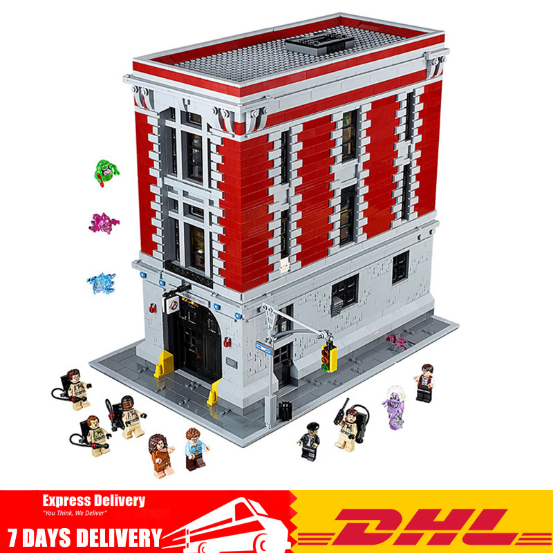 IN Stock 4695Pcs Ghostbusters Firehouse Headquarters Model Building Blocks Compatible Legoinglys 16001 75827